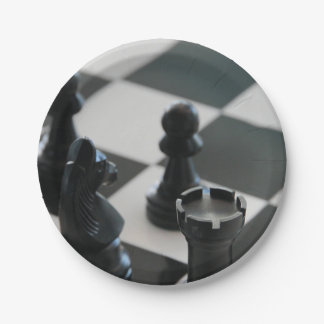 Chess 7 Inch Paper Plate