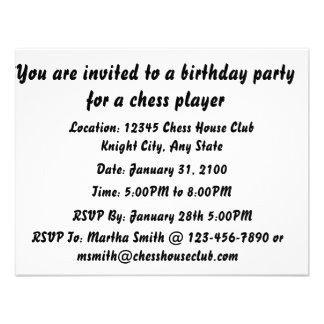 Chess A Competition Between Two Minds (Birthday) Announcements