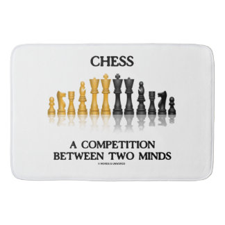 Chess A Competition Between Two Minds Chess Set Bath Mat