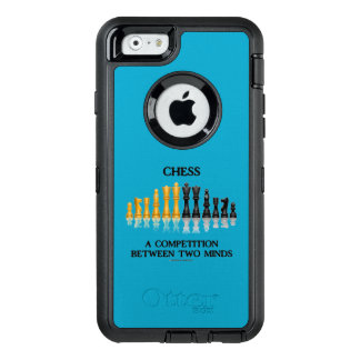 Chess A Competition Between Two Minds Chess Set OtterBox Defender iPhone Case