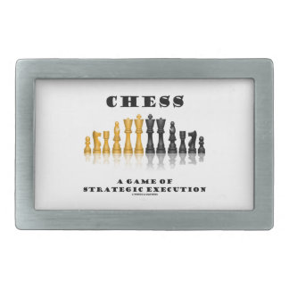 Chess A Game Of Strategic Execution (Chess Set) Belt Buckle