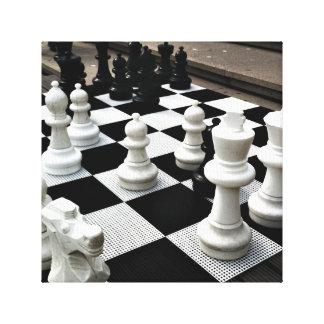 Chess Amstergram Canvas Print