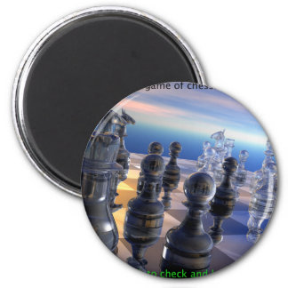 Chess and Life 2 Inch Round Magnet