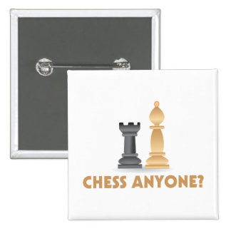 Chess Anyone Chess Pieces 2 Inch Square Button