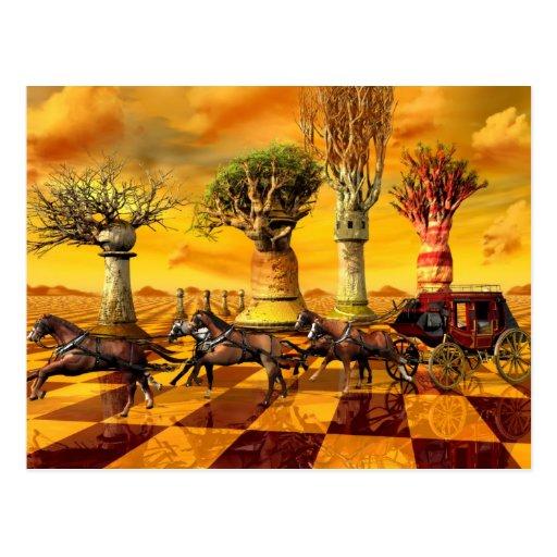 Chess Art Post Card