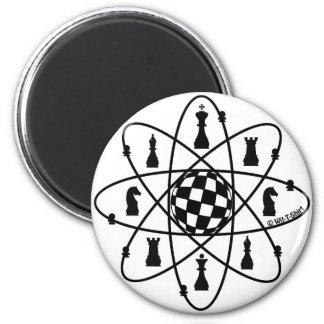 Chess Atom -Chess Matters 2 Inch Round Magnet
