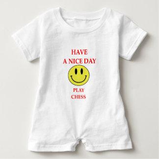 chess baby romper
