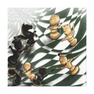 Chess battle canvas print
