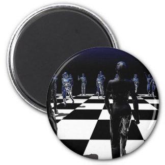 Chess - Bishop's POV 2 Inch Round Magnet
