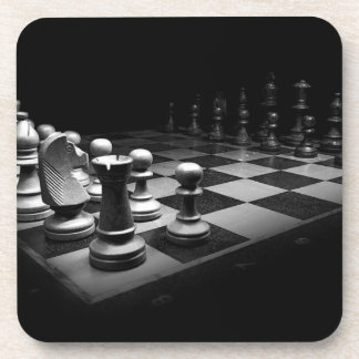 Chess Black White Chess Pieces King Chess Board Coaster