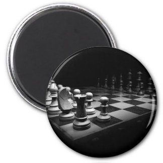 Chess Black White Chess Pieces King Chess Board Magnet