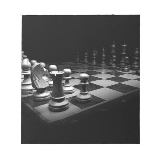 Chess Black White Chess Pieces King Chess Board Notepad