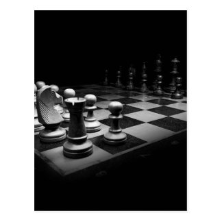Chess Black White Chess Pieces King Chess Board Postcard