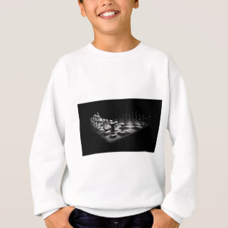 Chess Black White Chess Pieces King Chess Board Sweatshirt