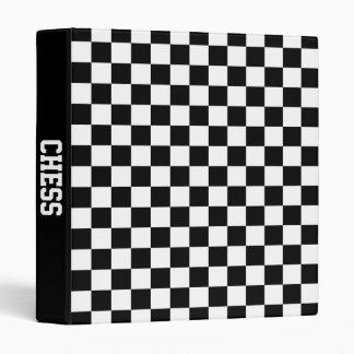 chess board 3 ring binders