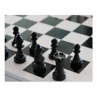 Chess Board and Pieces Postcard