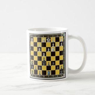 chess board coffee mug