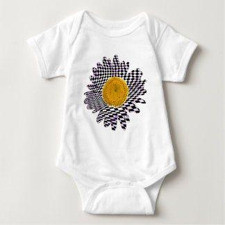 Chess board daisy baby bodysuit
