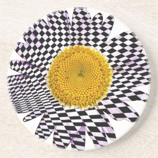 Chess board daisy coaster
