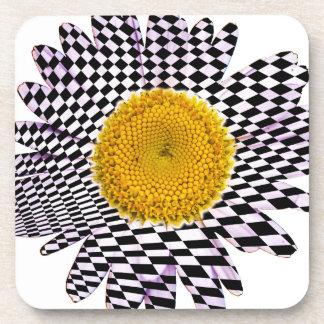 Chess board daisy coaster