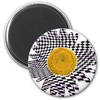 Chess board daisy magnet