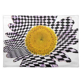 Chess board daisy placemat