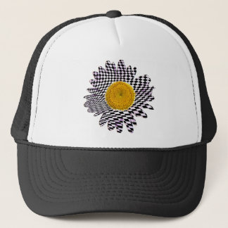 Chess board daisy trucker hat