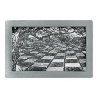 Chess Board in Wonderland Belt Buckle