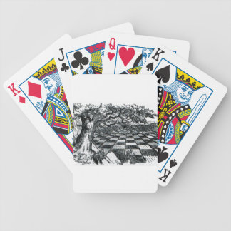 Chess Board in Wonderland Bicycle Playing Cards