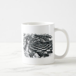 Chess Board in Wonderland Coffee Mug