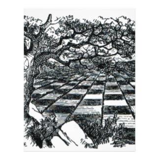 Chess Board in Wonderland Letterhead
