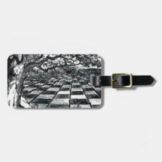 Chess Board in Wonderland Luggage Tag