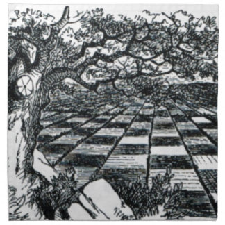 Chess Board in Wonderland Napkin