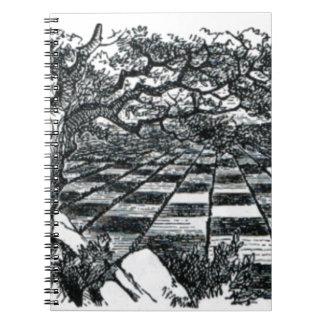 Chess Board in Wonderland Notebook
