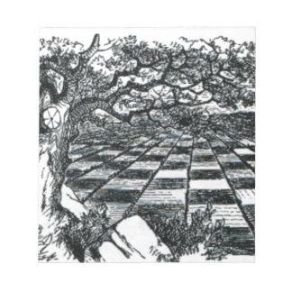 Chess Board in Wonderland Notepad