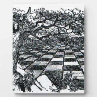 Chess Board in Wonderland Plaque