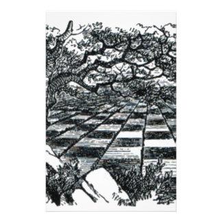 Chess Board in Wonderland Stationery