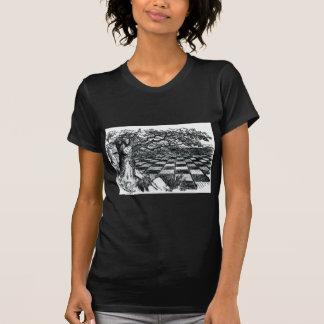 Chess Board in Wonderland T-Shirt