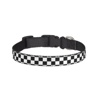 Chess Checkers White Black Dog Collars