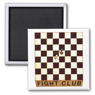Chess Club Square Magnet
