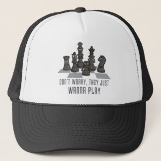 chess course they just wanna play trucker hat