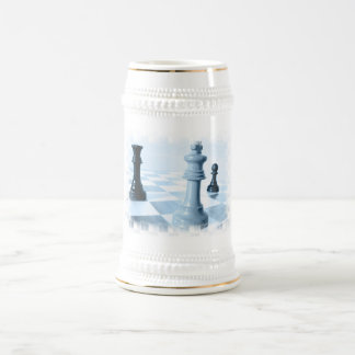 Chess Design  Beer Stein