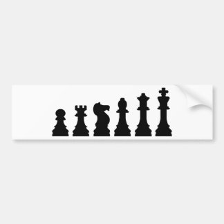 Chess evolution bumper sticker