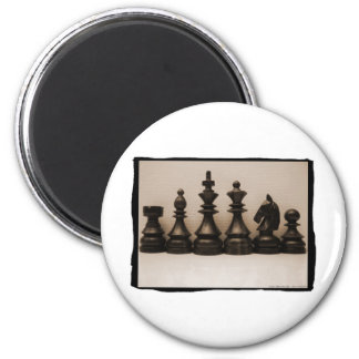 Chess Family Line Up 2 Inch Round Magnet