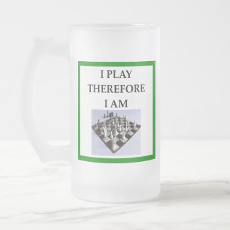 CHESS FROSTED GLASS BEER MUG