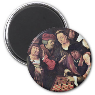 Chess Game By Leyden Lucas Van (Best Quality) 2 Inch Round Magnet