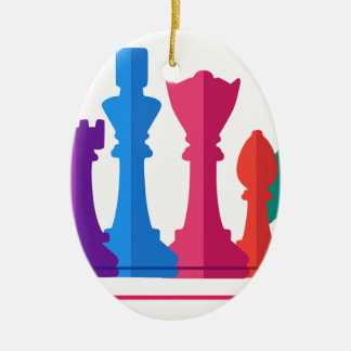 Chess Game Ceramic Ornament