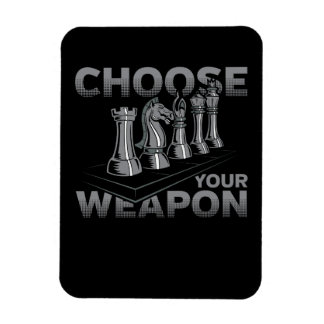 Chess Game Choose Your Weapon Rectangular Photo Magnet