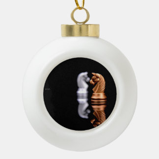 Chess Game Hobby Ceramic Ball Ornament