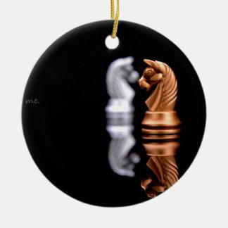 Chess Game Hobby Round Ceramic Ornament